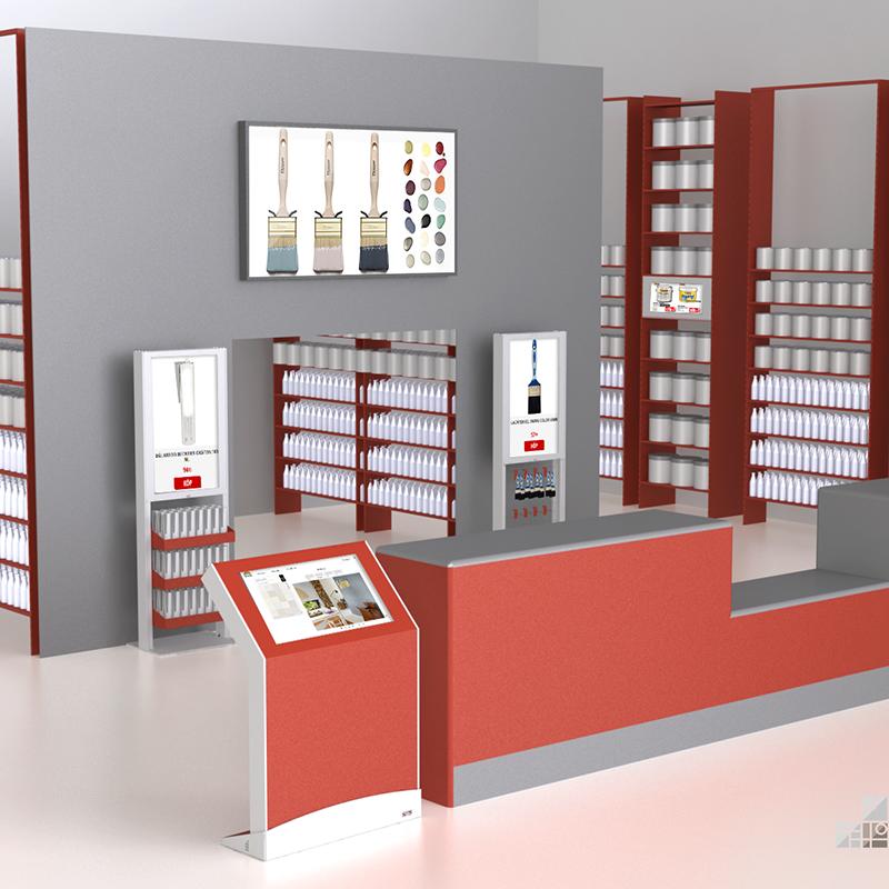 Store-paint-freestand-+-wayfinder-+-casing-web
